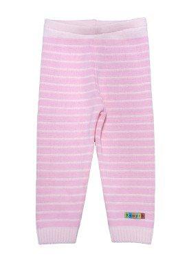 calca trico bebe feminina listrada rosa remyro 0123 1