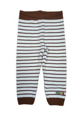calca trico bebe masculina listrada marrom remyro 0123 1
