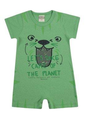 macaquinho bebe masculino planet verde kamylus 11705