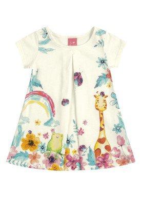 vestido bebe feminino nature offwhite kamylus 9960