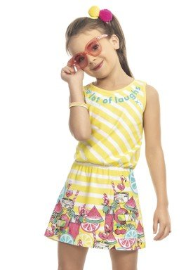 vestido infantil feminino laughs amarelo kamylus 9995 1