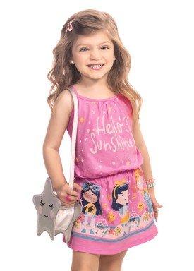 vestido infantil feminino sunshine rosa kamylus 9982 1