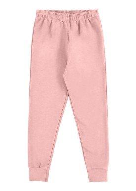calca moletom infantil feminina rosa alakazoo 00221