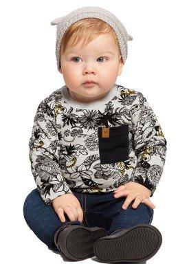 camiseta manga longa bebe masculina floresta mescla alakazoo 67360 1