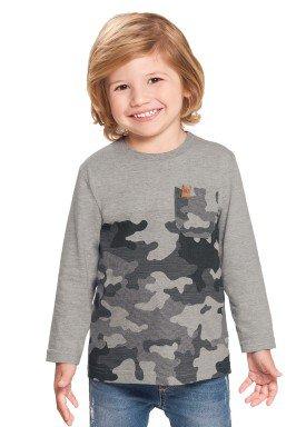 camiseta manga longa infantil masculina camuflada mescla alakazoo 67389 1