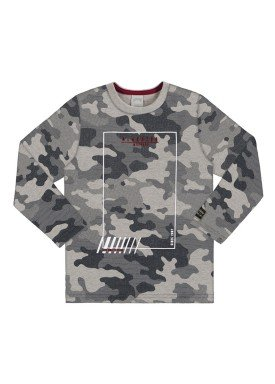 camiseta manga longa infantil masculina camuflada mescla alakazoo 67412
