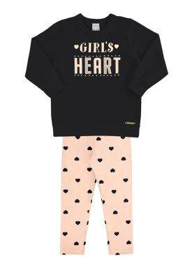 conjunto moletom infantil feminino heart preto alakazoo 67481 1