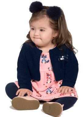 conjunto vestido bolero bebe feminino salmao alakazoo 67458 1