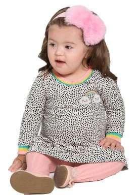 vestido molecotton bebe feminino arco iris mescla alakazoo 67450 1