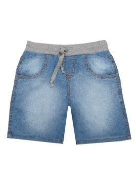 bermuda jeans infantil masculina azul lbm 1004 1