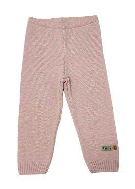calca trico bebe feminino rosa remyro 0125
