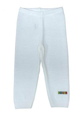 calca trico bebe unissex branco remyro 0125