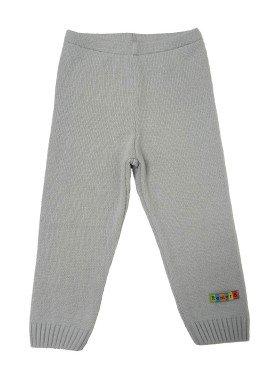 calca trico bebe unissex cinza remyro 0125