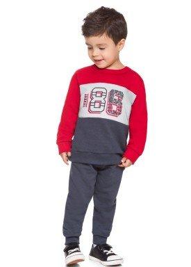 conjunto moletom infantil masculino league vermelho brandili 53512 1
