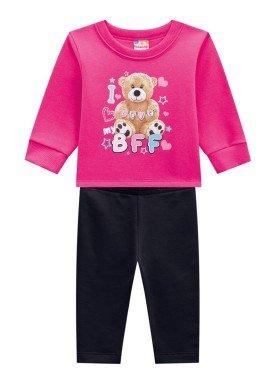 conjunto moletom infantil feminino love pink brandili 53640