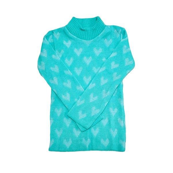 blusa la infantil feminina coracoes azulclaro remyro 0105