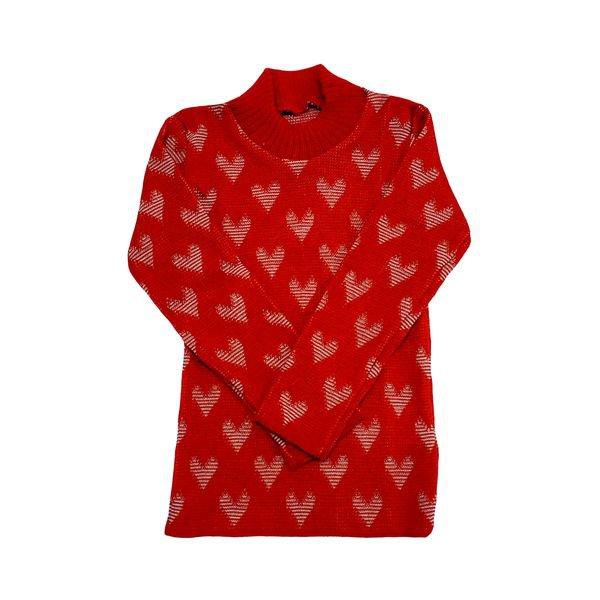 blusa la infantil feminina coracoes vermelho remyro 0105