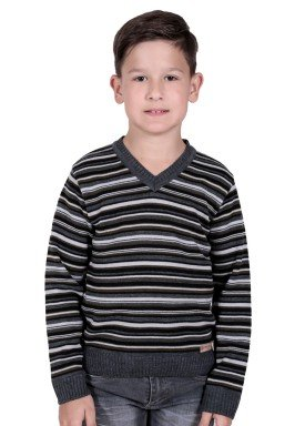 sueter trico infantil menino cinza remiro 1231