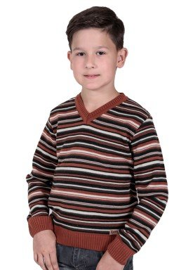 sueter trico infantil menino marrom remiro 1231 1