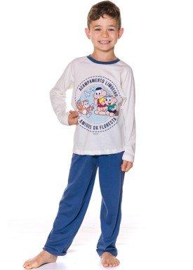 pijama longo infantil masculino turma monica natural evanilda 27040036