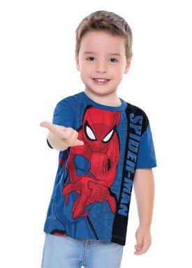 camiseta infantil masculina homem aranha azul fakini 2464 1