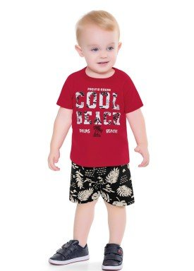 conjunto bebe masculino cool vermelho forfun 2153 1