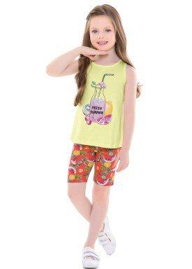 conjunto infantil feminino fresh amarelo forfun 2129 1