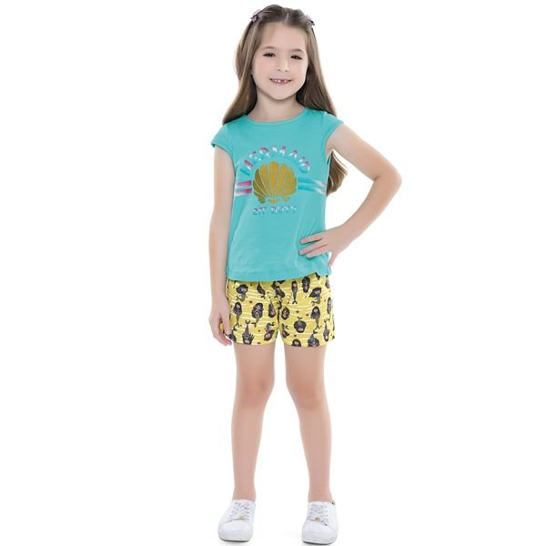 conjunto infantil feminino mermaid azul forfun 2130 1