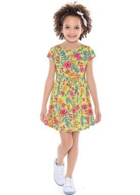 vestido infantil feminino floral amarelo forfun 2126 4