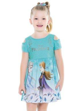 vestido infantil feminino frozen azul fakini 2438 1