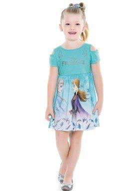 vestido infantil feminino frozen azul fakini 2438 4