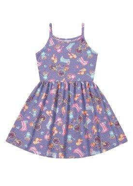 vestido infantil feminino garden lilas forfun 2127