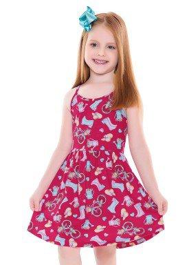 vestido infantil feminino garden pink forfun 2127 1