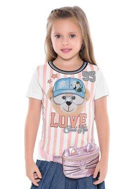 blusa infantil feminina love branco fakini 2047 1