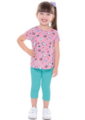conjunto infantil feminino unicorn rosa forfun 2115 1