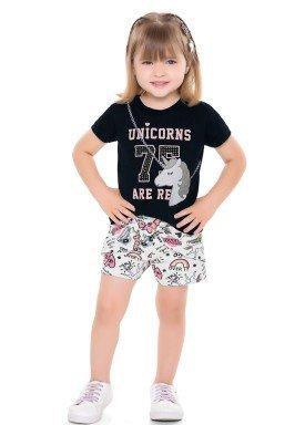 conjunto infantil feminino unicorns preto fakini 2037 1