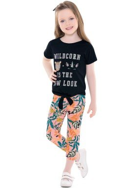 conjunto infantil feminino wildcorn preto fakini 2048 1
