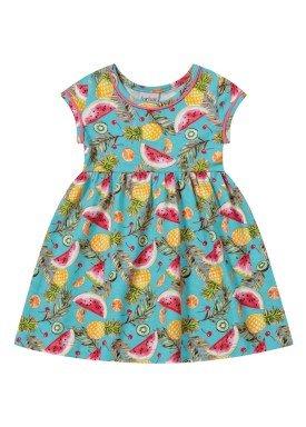 vestido bebe feminino frutas azul forfun 2104
