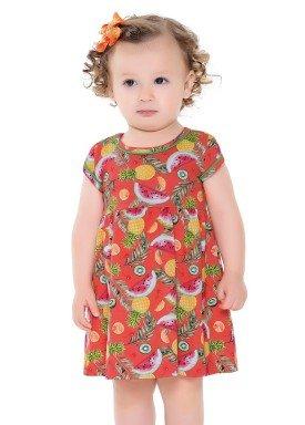 vestido bebe feminino frutas vermelho forfun 2104 1