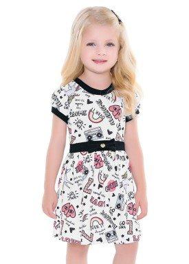 vestido infantil feminino awesome branco fakini 2039 1