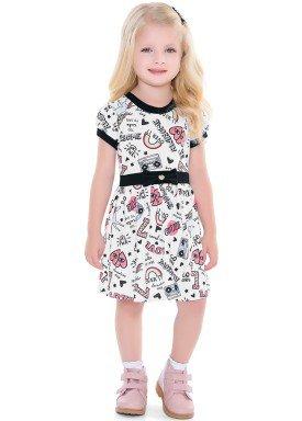 vestido infantil feminino awesome branco fakini 2039 4