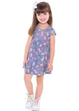vestido infantil feminino bycicle lilas forfun 2113 4