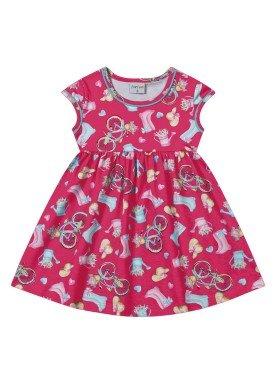 vestido infantil feminino bycicle pink forfun 2113