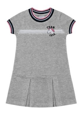 vestido infantil feminino unicornio mescla fakini 2036