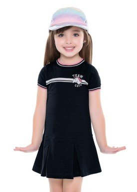 vestido infantil feminino unicornio preto fakini 2036 1