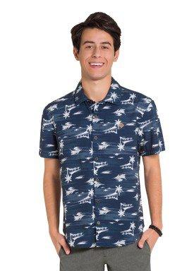 camisa juvenil masculina estampada azul fico 48400 1