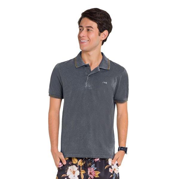 camisa polo juvenil masculina preto fico 48423 1