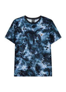 camiseta juvenil masculina estampada marinho fico 38276