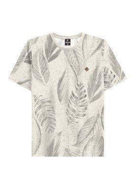 camiseta juvenil masculina folhas offwhite fico 48403