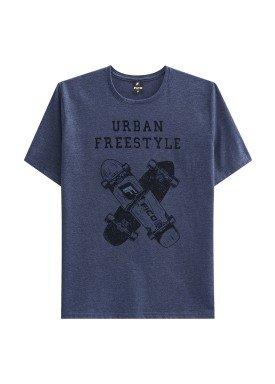 camiseta juvenil masculina freestyle marinho fico 48414
